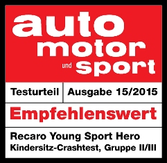 ams-testlabel-Kindersitz-Recaro-YoungSportHERO mini